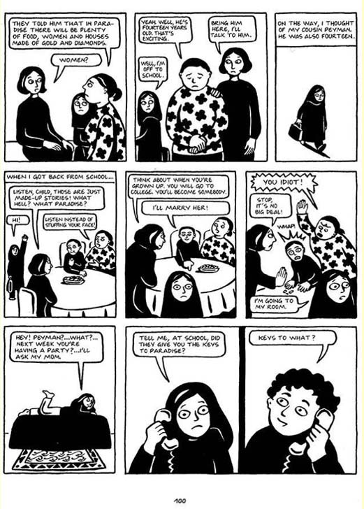 On Page And Screen Persepolis By Marjane Satrapi